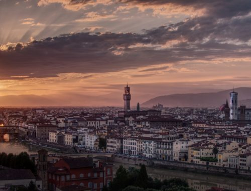 Florencie při západu slunce