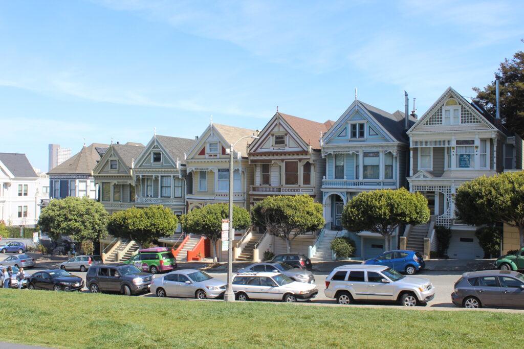 Barevné typicky americké domky.