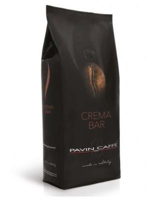 silná italská káva crema bar v černém obalu