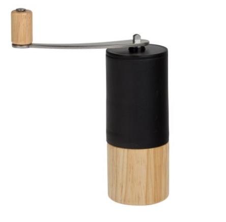 mini ruční hnědočerný mlýnek na kávu
