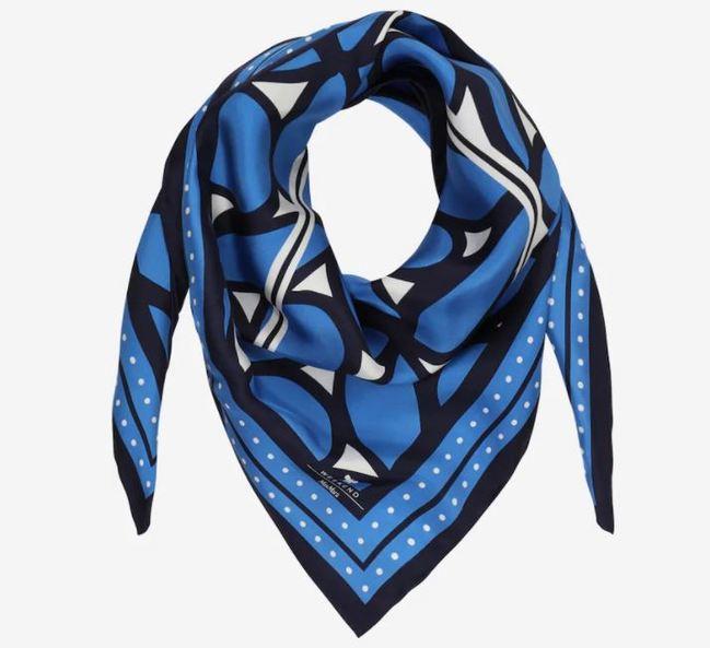 černobílomodrý šátek