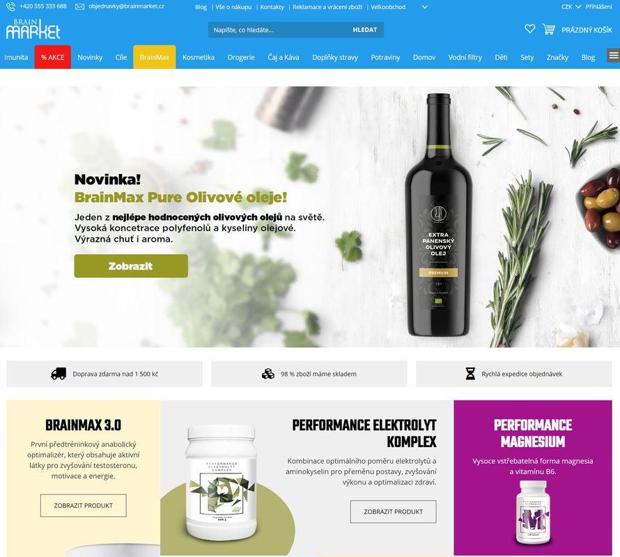 Brainmarket, stránka, která mimojiné má italská červená vína